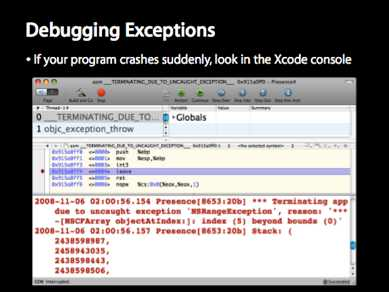 Debugging Exceptions