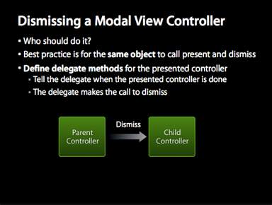 Dismissing Modal View Controller