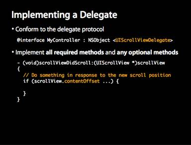 Implement A Delegate