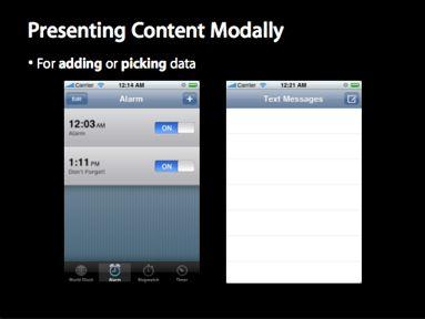Presenting Content Modally