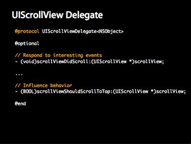 Uiscrollview Delegate