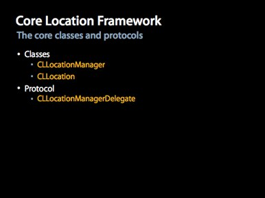 Core Location Framework