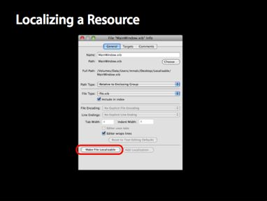 Localizing Resource