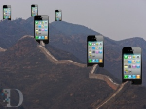 Great-Wall-of-iPhones