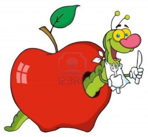 happy-cartoon-worm-in-apple